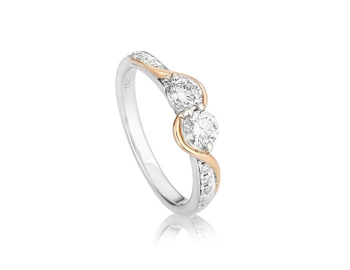 Diamond wave double stone