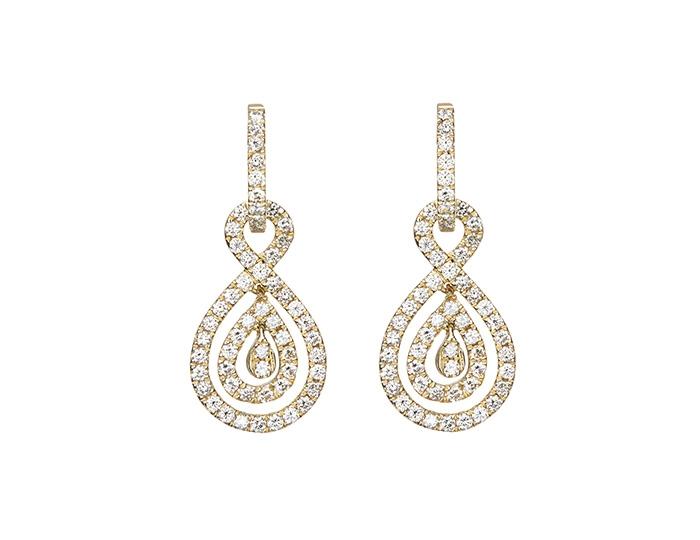 Diamond Fancy drop earrings