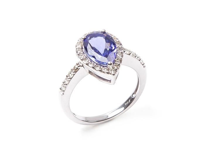AAA Tanzanite and diamond ring